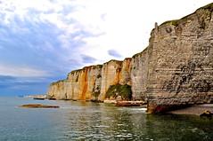 Cliffs of Etretat. (Blickwinkel Fotoart - Jochen Hayna) Tags: trip sea vacation france beach water strand french nikon frankreich rocks meer wasser urlaub cliffs normandie klippen d5000