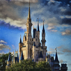 Fine Day Revisited (Light Echoes) Tags: fall orlando nikon florida disneyworld wdw waltdisneyworld hdr magickingdom cinderellacastle 2011 d90