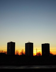 Drumchapel Winter Sunset (Michelle O'Connell Photography) Tags: winter sunset sun sunshine silhouette scotland community december glasgow landmark highrise scheme wintersky towerblocks drumchapel linkwoodcrescent drumchapelglasgow linkwoodflats drumchapelflats drumchapellifesofar michelleoconnellphotography