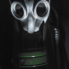 Gas mask (donnykashh) Tags: city urban fashion night construction nikon downtown shoot mask gas explore more
