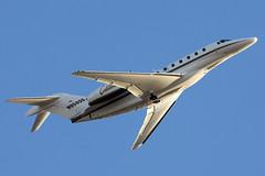 N958QS Cessna 750 Citation X departing KCLE (GeorgeM757) Tags: airplane aircraft aviation flight cessna bizjet kcle cessna750 citationx alltypesoftransport georgem757