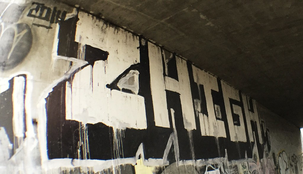 2 High If Ganja Hit, (donttripas_) Tags: street graffiti bucket paint illegal