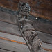 Carving on sailing ship