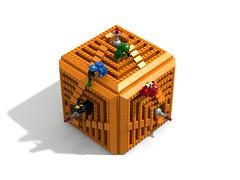 M.I.R.A.G.E. (David Roberts 01341) Tags: lego space illusion cube scifi opticalillusion ldd classicspace ldd2povray