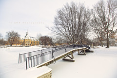 St. Marys in snow (riggsy23) Tags: bridge college st canon campus bend south indiana marys notre dame 1635mm
