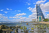 Winter beauty! (Ali:18 (علي الطميحي)) Tags: sea sky cloud tower canon jeddah saudiarabia برج السعودية سماء غيوم بحر جدة سحب كانون جده efs1585mmf3556