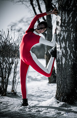 Stretch (Roomsixty6.de) Tags: model outdoor body bodysuit spandex lycra catsuit leggings jumpsuit unitard zentai ganzanzug roomsixty6 suits4me