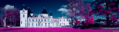 Panorama EIR (Tonee Gee) Tags: france castle digital photoshop bordeaux infrared hermitage chateau ermitage eir infrarouge aerochrome