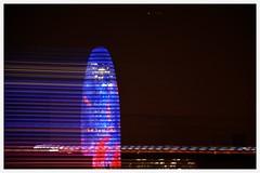 No se puede siempre escapar (albertpuiggrosvega) Tags: barcelona city sky noche amazing movement nikon colours torre bcn movimiento agbartower agbar lineas ciudadcondal d7100