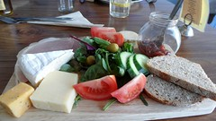 Ploughmans Nineteen Fourteas Cafe (Jean Bloor) Tags: brown bread lunch salad cafe lancashire pickles brie cheddar nineteen cheeses beckenham ploughmans fourteas