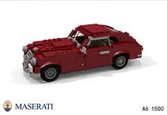 Maserati A6 1500 (1948) (lego911) Tags: auto italy classic 1948 car model italian lego render 1940s fabulous coupe 1500 forties challenge 103 maserati a6 cad lugnuts povray moc berlinetta ldd miniland foitsop lego911 thefabulousforties