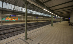 Nato (Herbalizer) Tags: vienna wien station wall graffiti austria sterreich wand linie line wiener rails bahn bb nato trackside linien