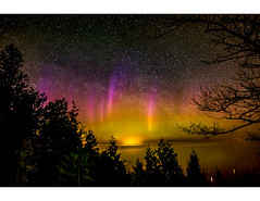Northern Lights Peninsula State Park (Rob T. Miller) Tags: stars nighttime astrophotography aurora northernlights auroraborealis may2016meeting