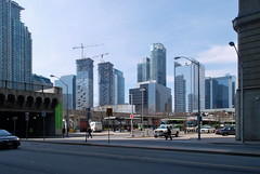 Toronto (Marcanadian) Tags: plaza city toronto ontario canada building bus station st skyline architecture lawrence construction downtown cityscape harbour district union go may terminal transit neighbourhood 2016 menkes southcore