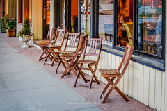 Chairs Waiting (mikesa10) Tags: ca canada chairs britishcolumbia streetphotography storefronts langley fortlangley streetview canon6d