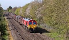 DBS Class 66 66097, Droitwich Spa, 5th. May 2016. (Crewcastrian) Tags: diesel transport trains railways freight dbs class66 droitwichspa 66097