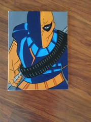 deathstroke art (rtmdesignsart) Tags: art love movie design artwork paint heart painted style wallart canvas gifts create birthdays giftideas deathstroke giftsforkids
