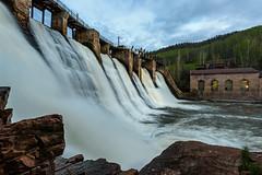 Porogi power station 1910 (dmitrii_efremenkov) Tags: travel tourism station landscape power dam historical satka