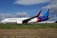EI-FBP  B737-86J(WL)  Sriwijaya Air (n707pm) Tags: ireland airplane airport aircraft airline boeing 737 coclare b737 737800 snn shannonairport einn sriwijayaair cn28071 737wl pkclr eifbp 27042013