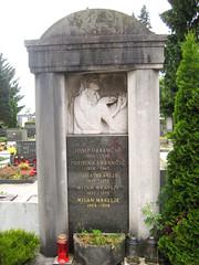 Grave at Žale Cemetery, Ljubljana, Slovenia (Wiebke) Tags: headstone tombstone gravestone grave ljubljana slovenia europe vacationphotos travel travelphotos žale žalecentralcemetery cemetery centralnopokopališčežale pokopališče bežigrad bezigrad