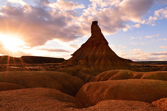 Castildetierra (mixtli1965) Tags: sunset sky clouds landscape atardecer nikon desert cielo nubes desierto navarra bardenas castildetierra d7100 tokina1116mmf28