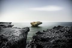 New Land (shane.taremi) Tags: longexposure sky seascape beach water rock clouds landscape island iran kish