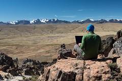 Bolivia - ILLAMPU 2016 Expedition (Ferrino Outdoor) Tags: computer bolivia ufficio autoscatto crispi pietro lavoro cordillerareal penas altipiano rewoolution selezionesponsor