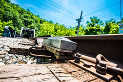 Ilchester (6-11-16)-048 (nickatkins) Tags: longexposure railroad bridge sky water graffiti bridges rail tunnel bluesky ironbridge rails railroads