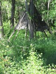 On native land (jamica1) Tags: canada creek bc okanagan columbia mission british kelowna teepee shelter tipi greenway