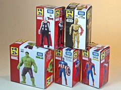 Takara Tomy  Metal Collection (Metacolle) Marvel and Star Wras Diecast Figures Series  Box Art (My Toy Museum) Tags: man metal america star spider spiderman collection captain wars hulk thor marvel takara tomy c3po diecast metacolle
