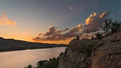 Horsetooth Sunset (andrewshaffer) Tags: sunset sun lake mountains water landscape colorado warm fort reservoir collins