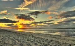 Glow///explored (stevefoltinek) Tags: beach sunset hooksiel sonnenuntergang meer nordsee tokina1116