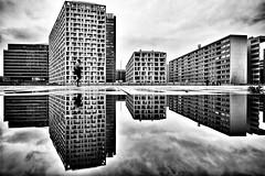 mirrored world (d26b73) Tags: blackandwhite bw monochrome noiretblanc explore streetphoto urbanarte xpro2