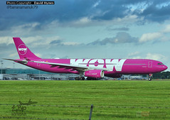 Wow Air Airbus A330 EC-MIO Diversion to London Stansted from Gatwick Airport (bananamanuk79) Tags: travel holiday london wow flying airport painted aircraft transport flight traveller planes airbus fans pilot stansted a330 stanstead londonstansted widebody livery planespotting stanstedairport airbusa330 planespotter a330300 planepictures planewatch londonstanstedairport pinkplane wowair airbusfans ecmio