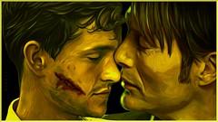 Hannibal & Will (Onurah Art) Tags: art photomanipulation painting digitalart hannibal darkart madsmikkelsen hughdancy onurah