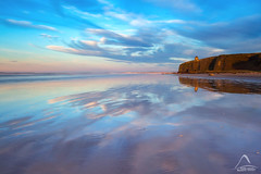 Brushstrokes..., Downhill Beach (kramelliott) Tags: sunset sea sky colour beach beautiful beauty canon reflections landscape temple photography natural little mark awesome downhill adventure lee nd northernireland ni filters awe ef 1740mm breathtaking elliott amazed brushstrokes grads stopper discover mussenden f4l eos700d