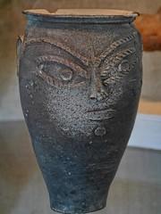Blackware ceramic face urn from the Oppidum d'Ensrune (mharrsch) Tags: blackware ceramic face archaeology archaeologicalsite enserune france oppidum hillfort celt roman ancient fort fortification languedoc mharrsch faceurn