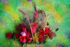 Flores Muertas (Diez Visualcreativo) Tags: chile flores digital photoshop foto arte flor colores alejandro pintura bodegon falsas diez espiga muertas creativo photoshopcreativo visualcreativo