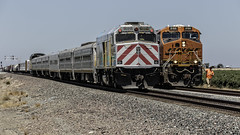 Roll By (lennycarl08) Tags: california railroad trains amtrak bnsf centralvalley passengertrain burlingtonnorthernsantafe escalon burlingtonnorthernsantaferailroad cabbagecar amtraksanjoaquin stocktonsub