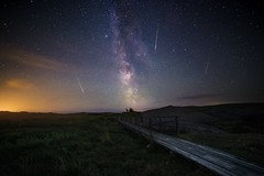 Perseids 2016 (Arvid Bjrkqvist) Tags: perseids meteors samyang 14mm f28 iso8000 sweden nsbokrok kungsbacka sa night stars starry sky milkyway bridge path galaxy space