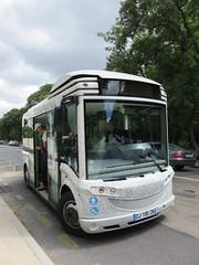 France - Paris - Bois de Boulogne - Fondation Louis Vuitton shuttle bus (JulesFoto) Tags: france paris bus boisdeboulogne louisvuitton