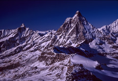 Matterhorn and Alps (robertdownie) Tags: switzerland mountains winter blue europe italy snow france swiss mountain alps chocolate zermatt matterhorn valais sky wallis