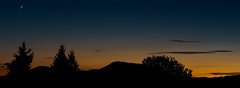 Crescent Sunset (michaelgraw) Tags: mary marys blue coast color crescent dusk moon mountain night orange oregon peak quarter range silhouette sunset trees yellow