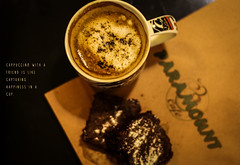 Cappuccino with a friend is like capturing happiness in a cup (shadman ali) Tags: cappuccino brownie brownies dessert sweettooth coffee quote foodphotography shadmanphotography foodporn food foodie shadmanali foodography shadman 50mm 50mmstm canon cafeparamount gulshan gulshan1 dhaka bangladesh cafe canont5i canon700d eos 700d t5i macro warm mug beverage