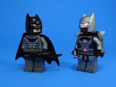 Bat-Borg (MrKjito) Tags: lego minifig batman cyborg super hero dc comic comics dark knight costume parody batarand white silver