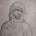 CHASSERIAU Théodore,1846 - Arabe debout, retenant un pli de son Burnous (drawing, dessin, disegno-Louvre RF24411) - Detail 3