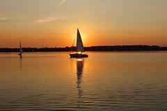 Leipzig Cospudener See (ingrid eulenfan) Tags: leipzig cospudenersee sonnenuntergang segelschiff abendrot 1020mm weitwinkelobjektivsigma1020mm sonyilcaalpha77ii afterglow sunset lake see wasser
