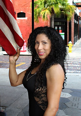 Ybor City on Sunday Morning (California Will) Tags: model sheer bella blackdress beautiful edna latina beauty hersoma ybor florida fl