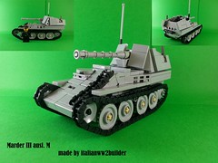 Marder III ausf. M (italianww2builder) Tags: lego ww2 marder iii tank destroyer war custom german