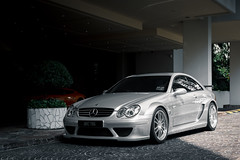 A touring car for the roads (Sathya Melvani) Tags: mercedes clk dtm singapore silver amg touring car regents